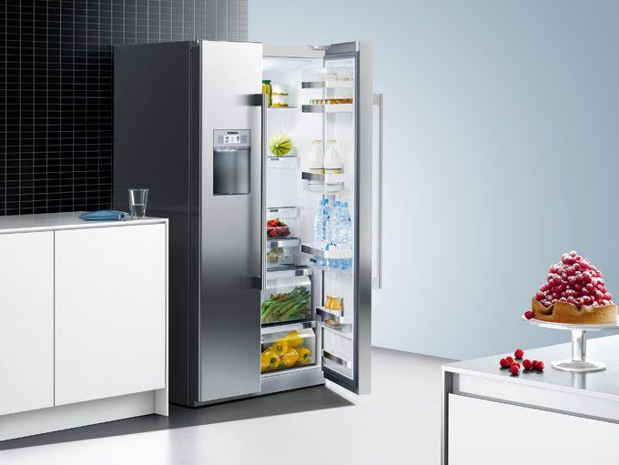 Side By Side Kühlschrank Display : Siemens side by side kühlschrank defekt mit weißer glasfront